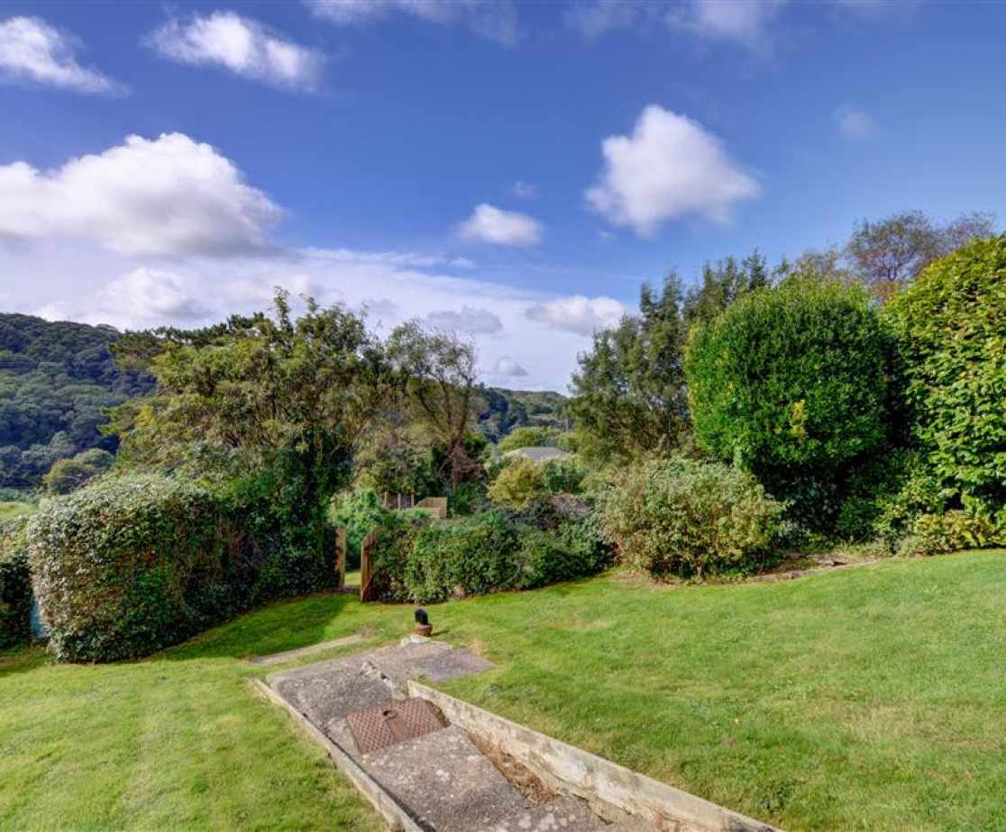 The property has a fantastic garden and wonderful views