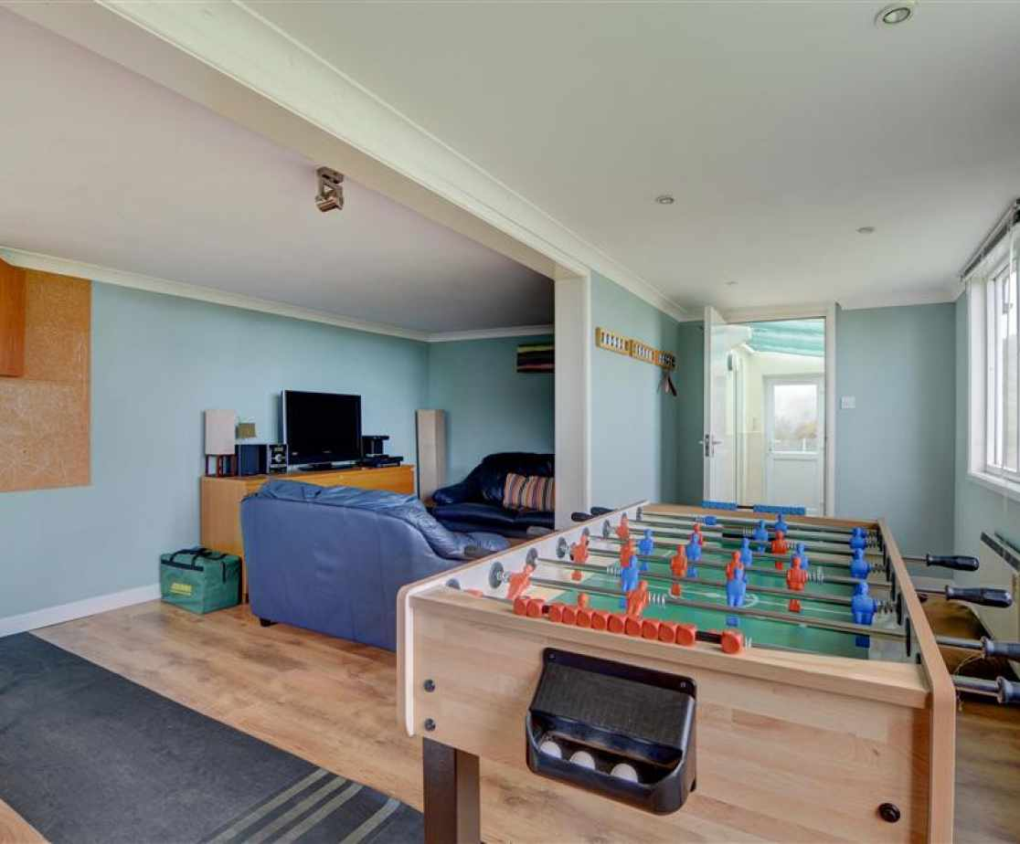 The games room is perfect for all ages