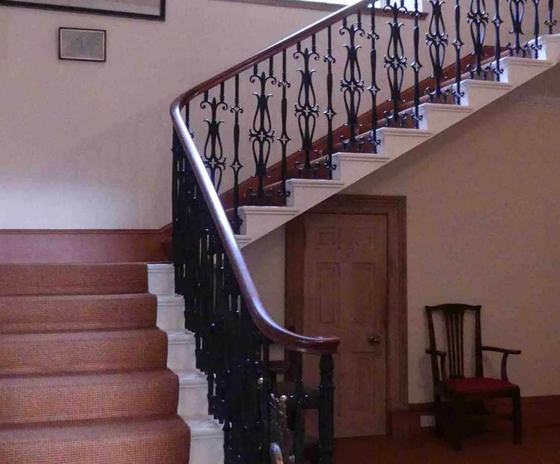 The stairs leading to accommodation above ...