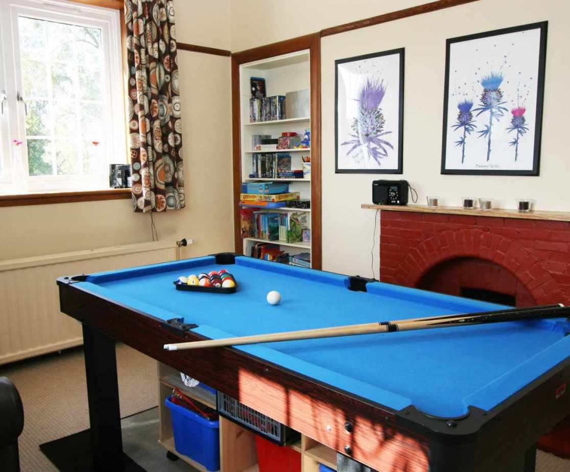The games room is now located on the first floor