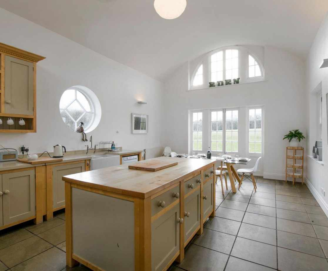 Light and airy kitchen and dining room